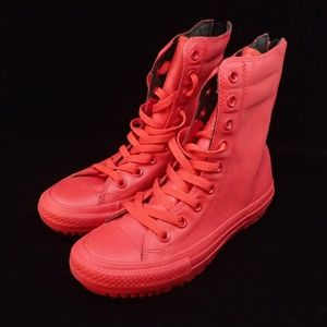 Converse Red Boots Women's 5 - New